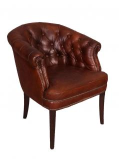 Clubsessel Swindon Chesterfield Vintage Cigar