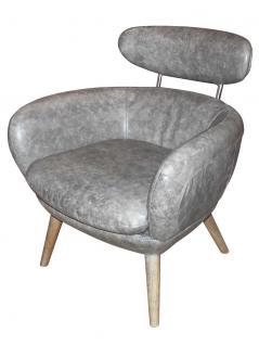 Designsessel Swinford Vintage Leder Boeing Grey