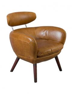 Designsessel Swinford Vintage Leder Columbia Brown