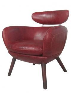 Designsessel Swinford Vintage Leder Royal Rouge