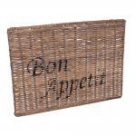 Untersetzer Bon Appetit Placemat Rattan Set Tischset Naturrattan