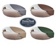 Atmungsaktive Schutzhülle Atlantic Lounge ProtecTeak grau Haube Hülle Schutzhaube