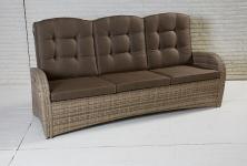 3-Sitzer Living Sofa Turin Natur Geflecht Polyrattan Gartensofa