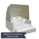 Baldachin / Sonnenverdeck für Beach Lounge Domus Ventures Liegeinsel