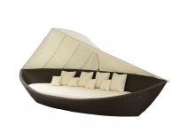 Liegeinsel Boat Cubu Croko Lounge Gartenlounge Gartenmöbel Sonneninsel Sunlounger