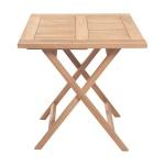 Teakholz Bistrotisch Riva eckig Teak Tisch Klapptisch Gartenmöbel Teakmöbel Gartentisch
