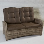 2-Sitzer Living Sofa Turin Rabida Natur Geflecht Polyrattan Gartensofa