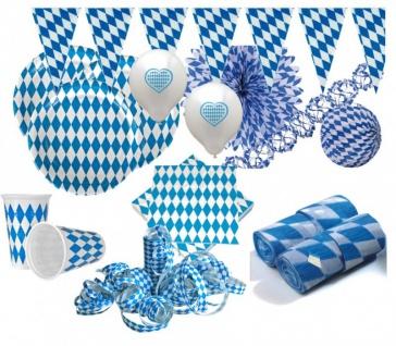XXL 111 Teile Bavaria Party Deko Set Oktoberfest für 40 Personen