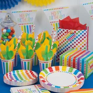 Wimpelgirlande zum Geburtstag Regenbogen - Vorschau 2