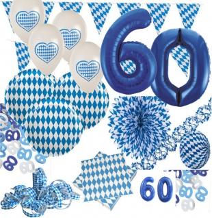 60. Geburtstag XXL 72 Teile Bavaria Party Deko Set Oktoberfest für 20 Personen