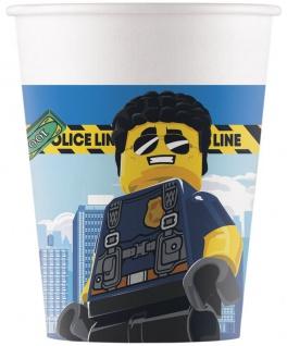 8 Papp Becher Lego City Polizei