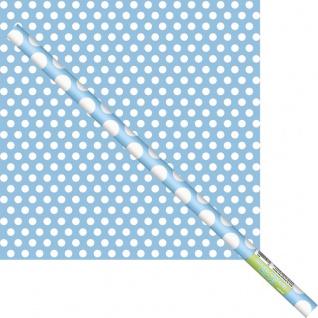 Geschenkpapier Hellblau mit Punkten