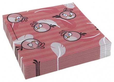 20 Servietten Angry Birds Pink
