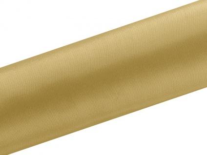 Satin Tischläufer Gold 0, 16 x 9m