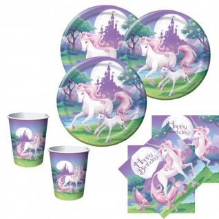 48 Teile Einhorn Geburtstags Party Deko Set für 16 Kinder