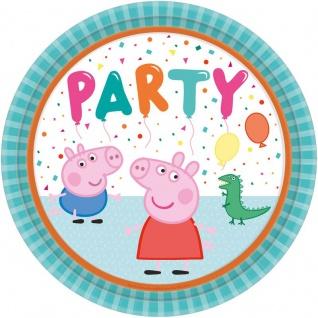8 Papp Teller Peppa Wutz Party