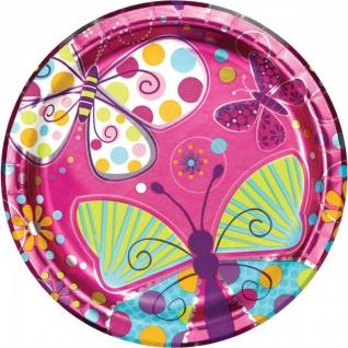 32 Teile Schmetterling in Pink Geburtstags Deko Set für 8 Personen - Vorschau 2