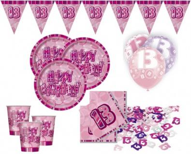 56 Teile Party Deko Set zum 13. Geburtstag für 16 Personen
