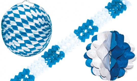 XXL 48 Teile Bavaria Party Deko Set Oktoberfest für 10 Personen - Vorschau 3
