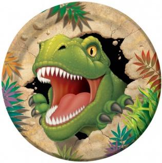 8 Dinosaurier Party Teller