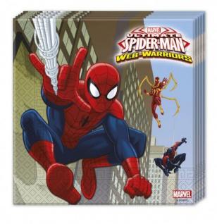 36 Teile Spiderman Web Warriors Party Deko Set für 8 Kinder - Vorschau 4