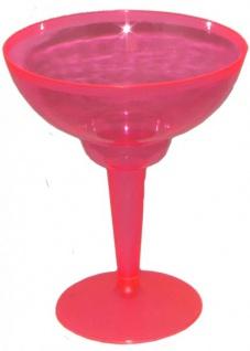 10 Margarita Cocktail Gläser Neon Pink - Vorschau