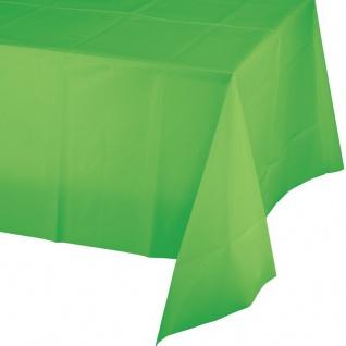 Plastik Tischdecke in Limonen Grün