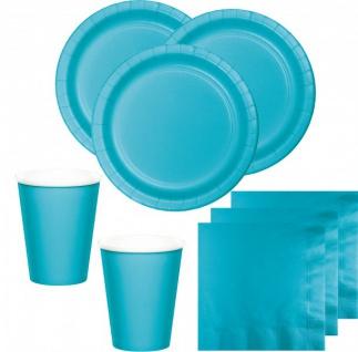36 Teile Party Deko Set Bermuda Blau für 8 Personen