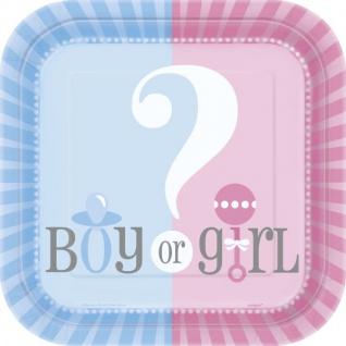 10 kleine Teller Babyparty Junge oder Mädchen