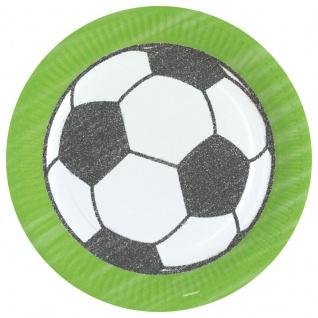 8 Fußball Papp Teller Kicker Party