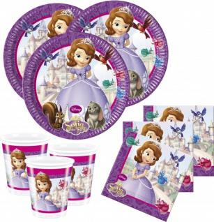 36 Teile Disney Prinzessin Sofia Party Deko Basis Set - für 8 Kinder