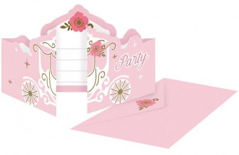 8 Einladungskarten Prinzessin für einen Tag
