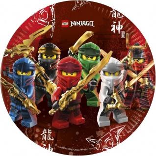 8 Papp Teller Lego Ninjago