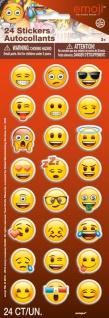 1 Bogen Emoji Funny Faces Soft Sticker