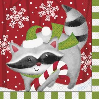 16 Servietten Weihnachten der Waldtiere