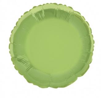 Folienballon Rund Limonen Grün