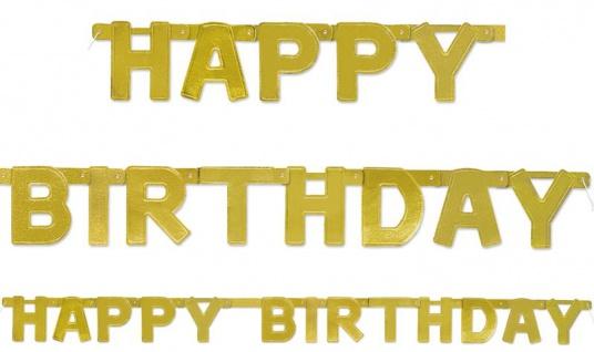 Happy Birthday goldene Geburtstags Girlande
