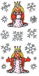 Eisprinzessin Silver Sticker