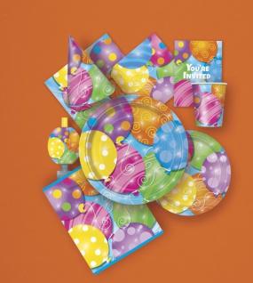 8 kleine Teller kunterbunte Ballon Party - Vorschau 3