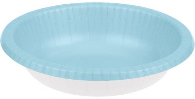 20 Schalen in Pastell Blau aus Pappe 590 ml