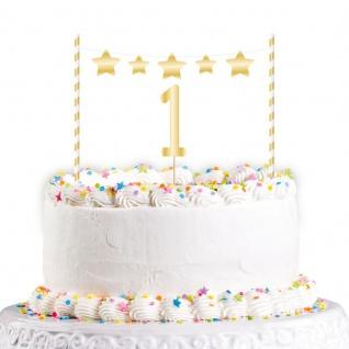 Glitzer Torten Stecker Set zum 1. Geburtstag