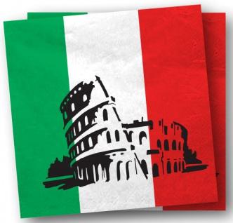 20 Servietten Italien Party Deko