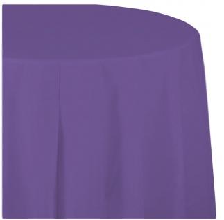 Runde Plastik Tischdecke Neon Violett - Vorschau 1