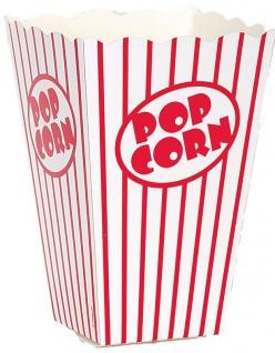 100 Popcorn Schachteln aus Pappe rot weiß gestreift 15x11x11 cm