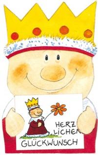 König Geschenk Aufklebefigur