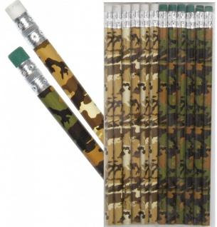 12 Bleistifte im Camouflage Design