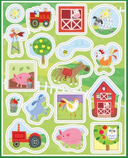 4 Bauernhof kleine Farm Sticker Bogen