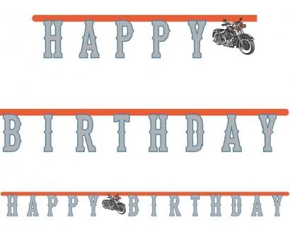 Geburtstags Girlande Happy Birthday Biker Party