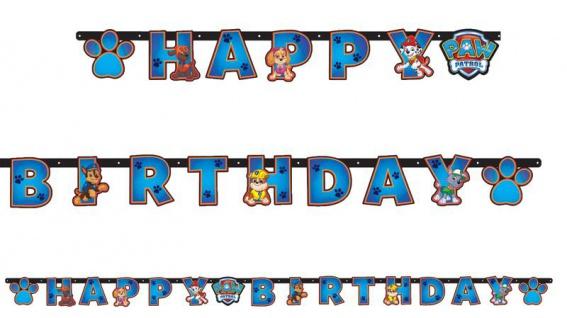 Paw Patrol Geburtstags Girlande