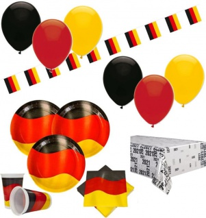 XXL 72 Teile Deutschland Party Deko Set 10 Personen